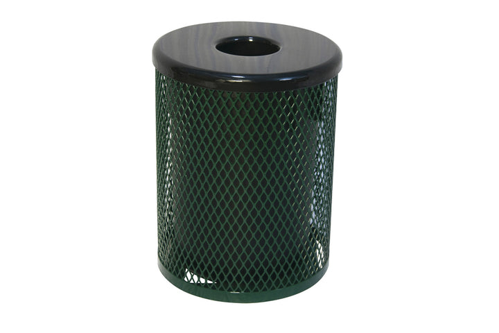 Metal Trash Receptacle - Playground Experts