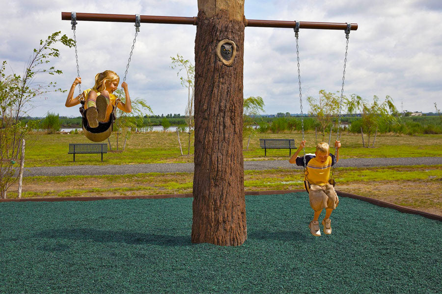 Recycled Rubber Mulch - Outdoor Playground Safety Surfacing