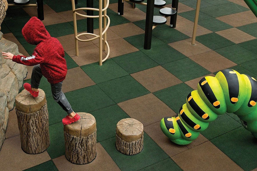 Recycled Rubber Tiles - Playground Safety Surfacing