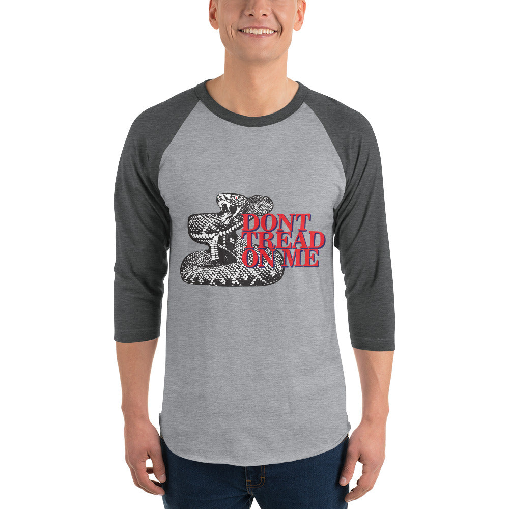 Don't Tread On Me 3/4 sleeve raglan shirt - Made In The USA