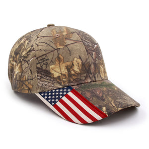 USA Flag Camo Cap