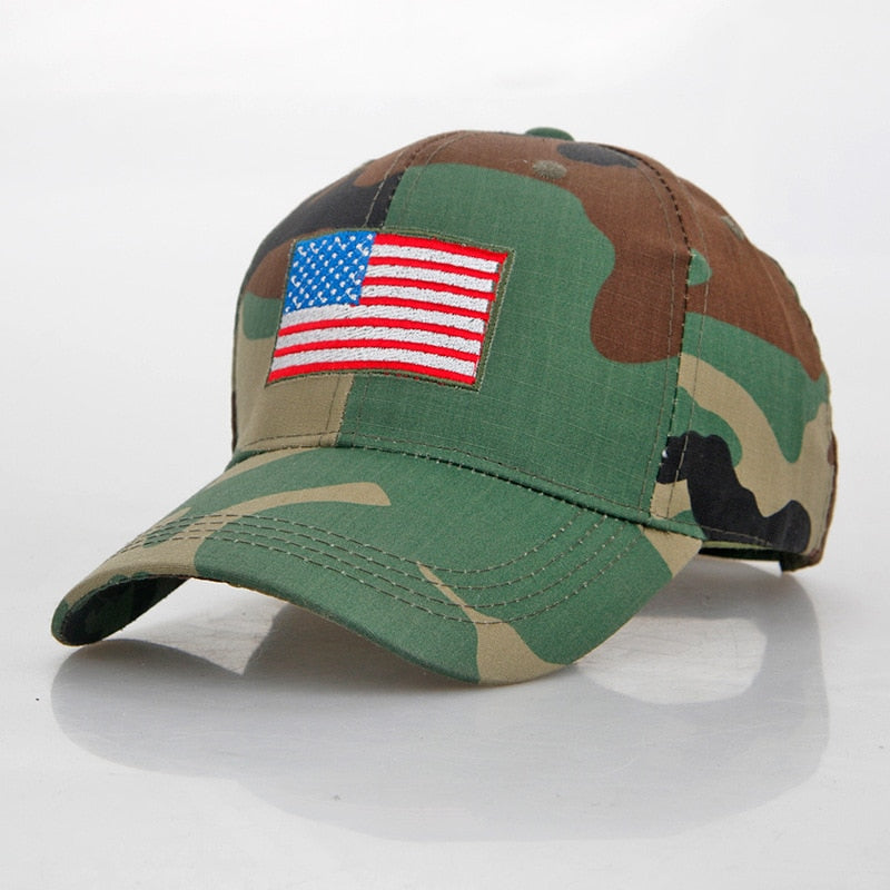 USA Flag Camo Hat