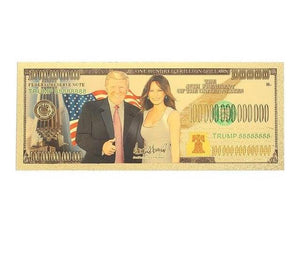 The President & The First Lady Plated Banknote