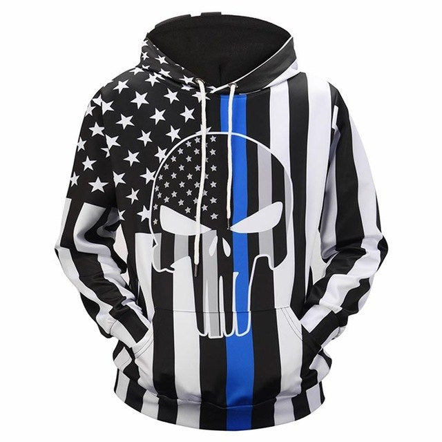 The Punisher USA Flag Hoodie