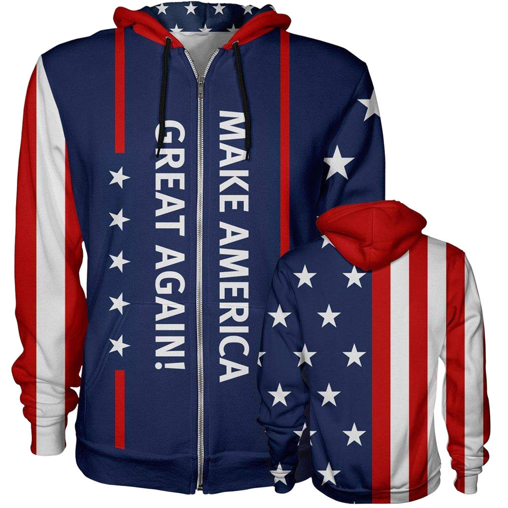 Limited Edition New MAGA Zip Hoodie