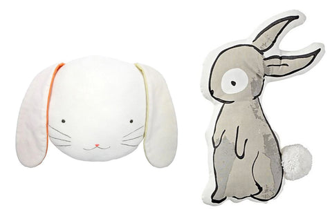 Bunny throw cushions