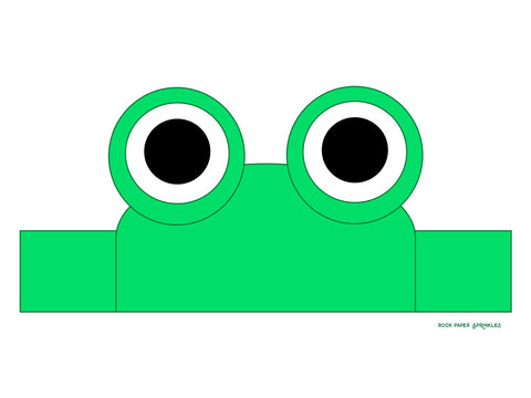 DIY craft of a frog animal headband for Leap Day