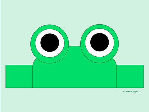 DIY free template frog animal headband for Leap Day craft