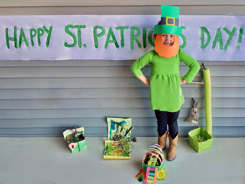 Kid as a leprechaun photo