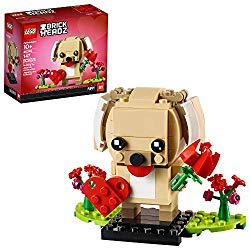 Lego Valentine puppy with heart