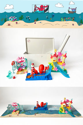Mermaid mat and playset toys