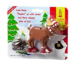 Pooping reindeer candy dispenser stocking stuffer