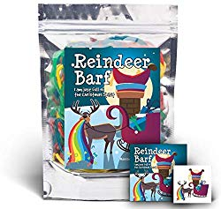 Reindeer barf rainbow licorice stocking stuffer