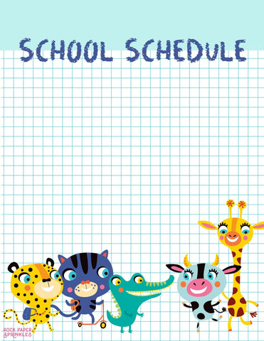 Free school schedule template to get organized with remote school