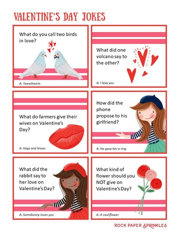 Kid Valentine's Day Jokes with pretty pictures