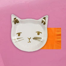 Load image into Gallery viewer, Cat Party Tableware + Cake Topper Bundle