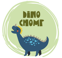 Load image into Gallery viewer, Dinosaur graphic with Dino Chomp text