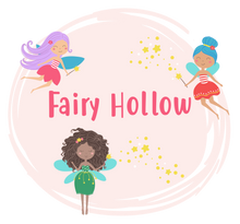Load image into Gallery viewer, Fairy graphic with fairies and the words Fairy Hollow