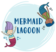 Load image into Gallery viewer, Mermaid graphics with Mermaid Lagoon text