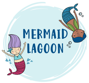 Mermaid graphics with Mermaid Lagoon text