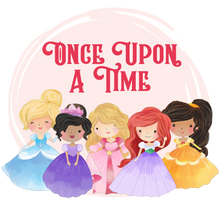 Load image into Gallery viewer, Princess graphics with Once Upon a Time text