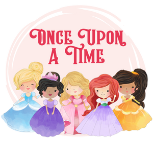 Princess graphics with Once Upon a Time text