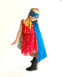 Royal blue superhero cape