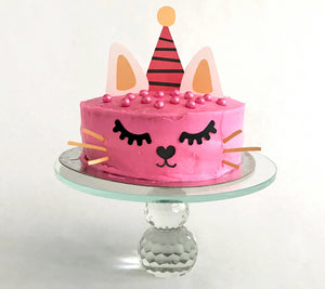 cat cake topper for a cat themed birthday party