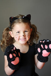 Cat paws costume on child