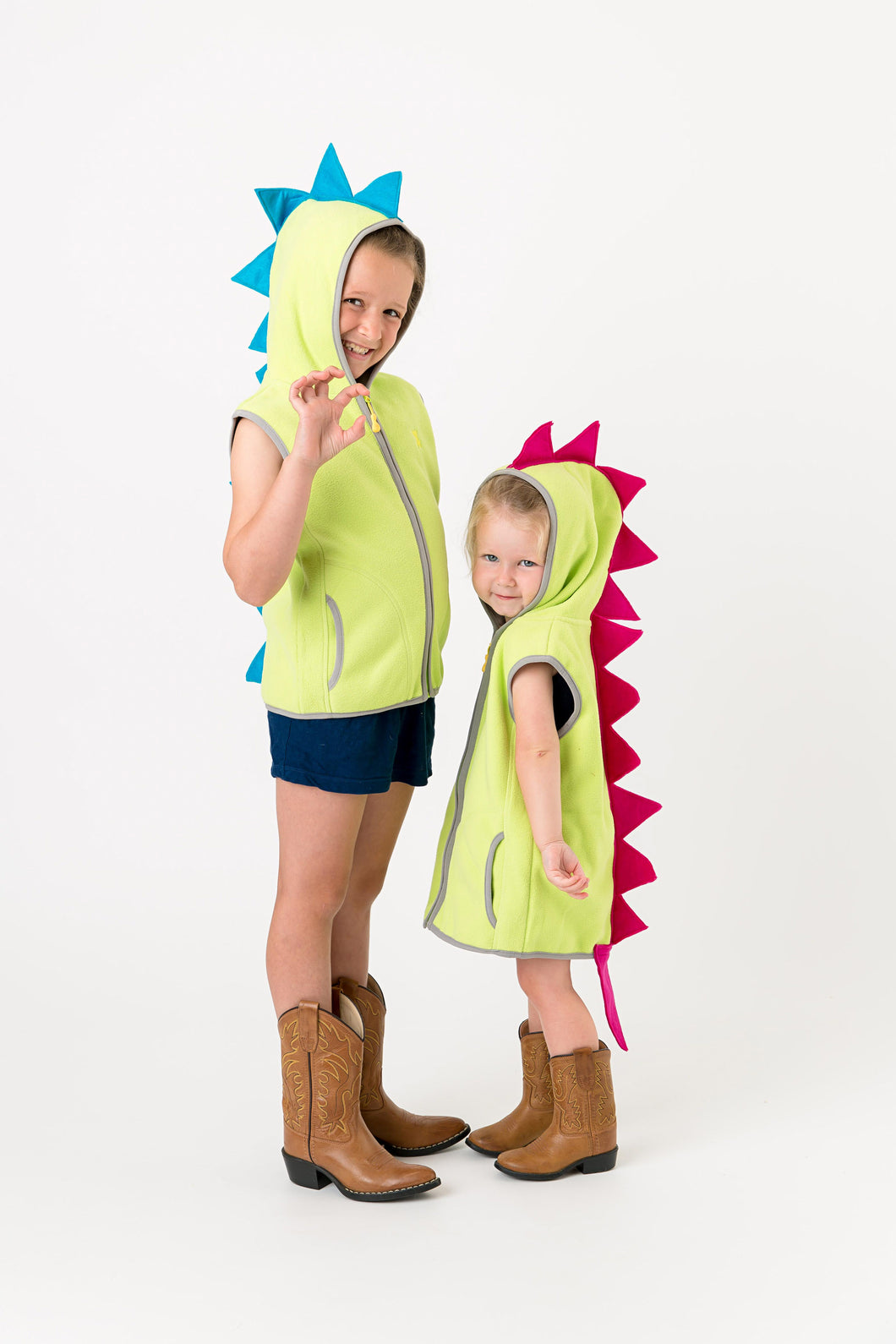Dinosaur vest costumes on children