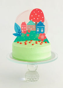 Fairy cake topper for a fairy cake