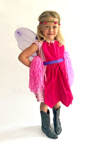 Child wearing a fairy costume
