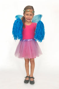 Child in fairy costume for birthday party