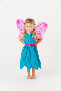 Blue fairy apron with wings