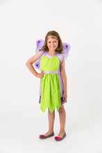 Load image into Gallery viewer, Green fairy apron with wings