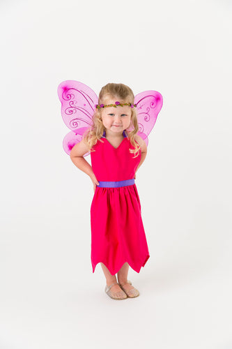 Pink fairy apron with wings