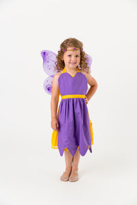 Purple fairy apron with wings