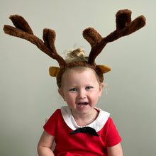 Load image into Gallery viewer, Large reindeer antler headband