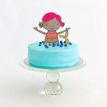 Load image into Gallery viewer, Mermaid Party Tableware + Cake Topper Bundle