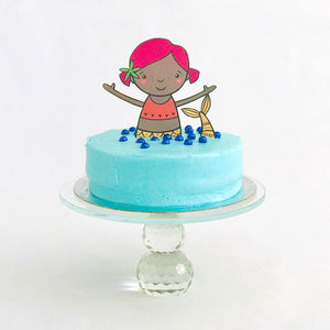Mermaid Party Tableware + Cake Topper Bundle