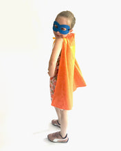Load image into Gallery viewer, Orange superhero cape