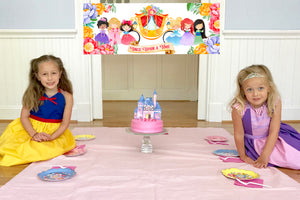 Princess Party Tableware + Cake Topper Bundle