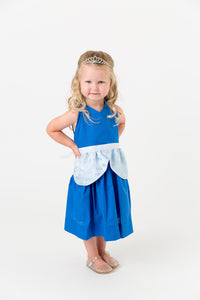 Blue princess apron costume