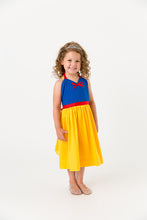 Load image into Gallery viewer, Blue and yellow snow white princess costume