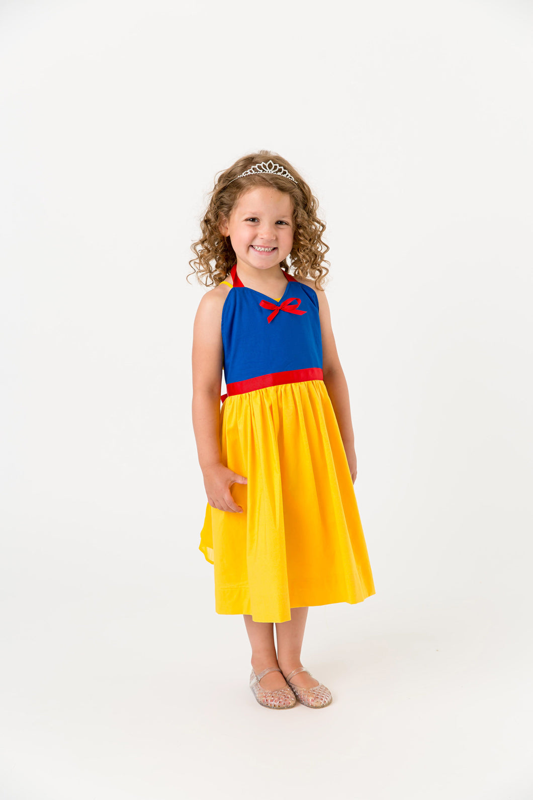 Blue and yellow snow white princess costume