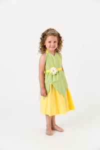 Green and yellow Princess and the Frog costume