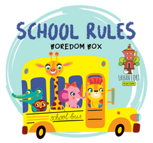 Load image into Gallery viewer, Urban Fort + Rock Paper Sprinkles | Boredom Box: School Rules