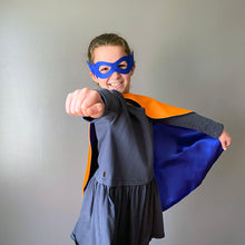 Load image into Gallery viewer, Superhero kid with cape and mask