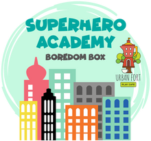 Load image into Gallery viewer, Urban Fort + Rock Paper Sprinkles | Boredom Box: Superhero Academy