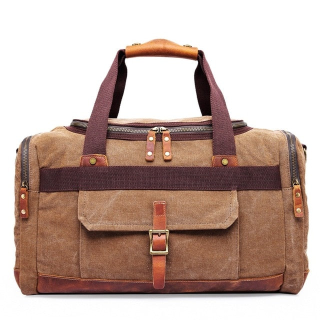 High Quality Multifunctional Heavy Duty Canvas Travel Bags Large Capacity  Men Hand One-shoulder Luggage Travel Duffle Bags DB41 49b4a0e314eab